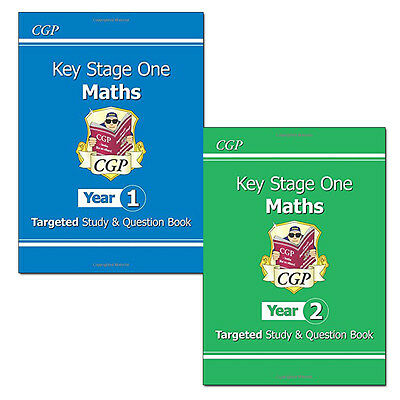 KS1 Maths Targeted Study & Question Book Year 1- 2 Collection 2 Books Set New