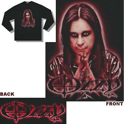 "Ozzy Osbourne ""pray Sepia"" Image Black Long Sleeve T-Shirt Xl New Official"