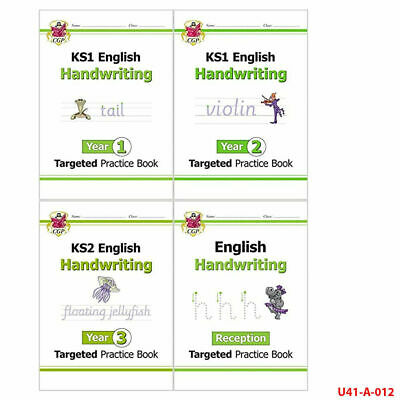 New KS1 English Targeted Practice Collection Handwriting(Year 1 - 3) 4 Books Set