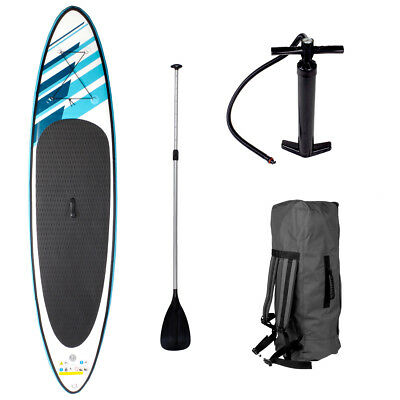 SUP Board Stand Up Paddle Surfboard 320cm aufblasbar inkl. Paddel ISUP Paddling