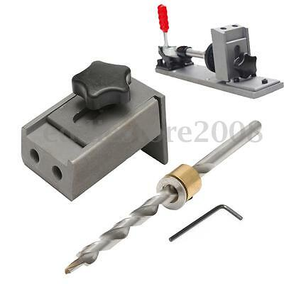 Pocket Hole Drill Jig Locator Kit with Step Drilling Bit Woodworking Tool Set