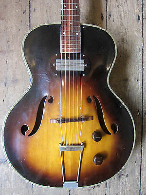 1950's Silvertone Semi Acoustic single pickup collectable rare Jazz style guitar