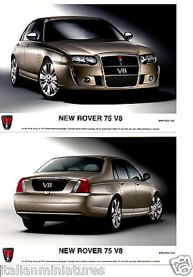 Rover 75 New V8 Front & Rear 2 x Press Photograph Mint Condition