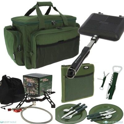 Gas Stove + NGT Toastie Maker Cutlery Set and Insulated Carryall Carp Fishing