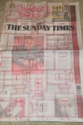 Sunday Times Newspaper Double Spread CHANEL Promo Double Outer Wrap 11 Dec 2016