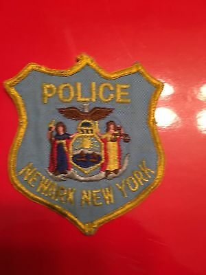 Newark  New York  Police  Shoulder Patch    Old Used