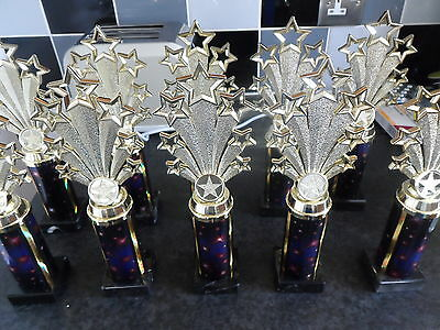 Joblot Of 20 -  Star Trophies - Brand New- With Free Engraved Plates