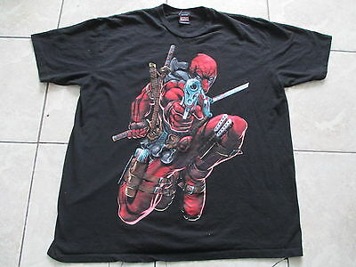 Marvel Deadpool Black Red T Shirt Size L Large XL X-Large