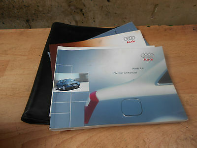 2002 Audi A4 B6 Owners Handbook Manual User Guide And Wallet