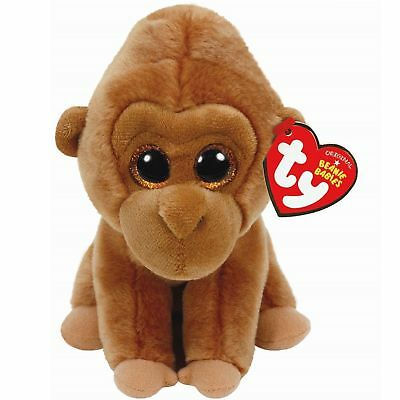 Ty Beanie Babies Boos Monroe Gorilla Plush Soft Toy New With Tags