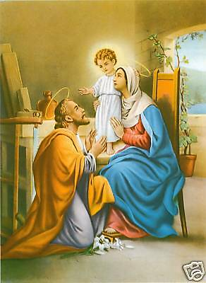 Catholic Print Picture HOLY FAMILY Jesus Mary St.Joseph ready to be framed