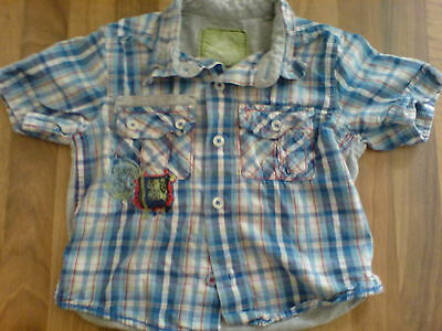 Next Baby Gorgeous Blue Checked Shirt 9-12 Months