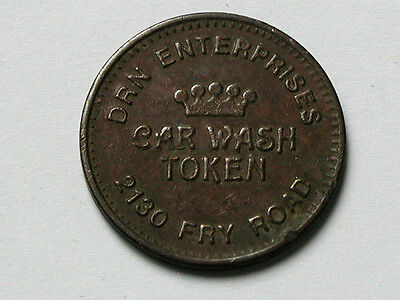 DRN Enterprises 2130 Fry Road Car Wash Token/Coin with Texas Long Horn Cattle