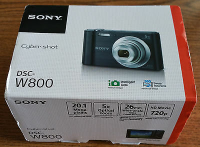 Sony Cyber-shot DSC-W800 20.1 MP Digital Camera - BLACK - NEW