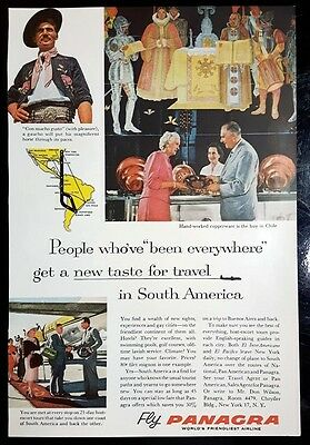 1959 PANAGRA AIRLINES Been Everywhere South America Vintage Magazine Print Ad