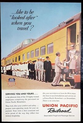 1959 UNION PACIFIC RAILROAD Like to Be Looked After Print Ad