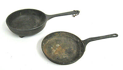 Lot of 2 - Vintage Skillet / Cooking Pan - Cast Iron, Footed Miniature Antique