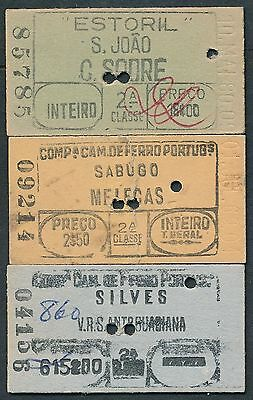 QY2610d PORTUGAL 3 tickets Sabugo 1969 S Joao 1980 Silves 1997