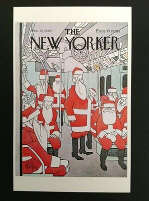 POSTCARD FROM THE NEW YORKER - December 25 1965 Cover Postcard Christmas (NEW)