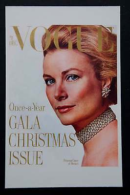 POSTCARDS FROM VOGUE - December 1971 (Grace of Monaco) - Cover Postcard - NEW