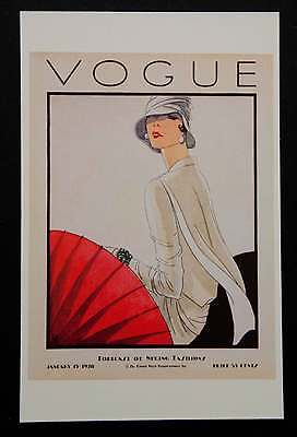POSTCARDS FROM VOGUE - January 15, 1928 - Cover Postcard - NEW