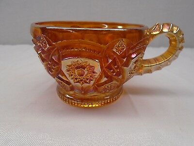 Vintage Imperial Fashion Marigold Carnival Glass Cup
