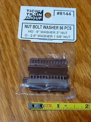 Tichy Train Group HO #8144 Nut-Bolt-Washer Castings (Rust-Colored Styrene) --