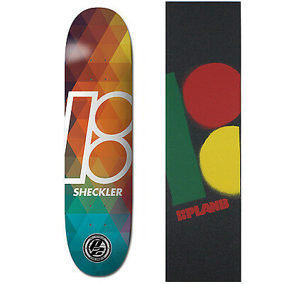 "PLAN B Skateboard Deck SHECKLER PRISM P2 8.12"" with RASTA Griptape"