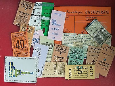 P3670 France Various. 19 Bus/Tram/Train/Other Tickets, **. **