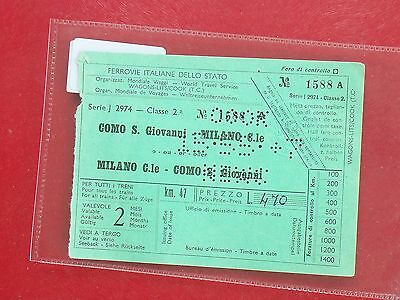 P3334 Italy. FIDS. 1 Train Tickets Como, Milano, **