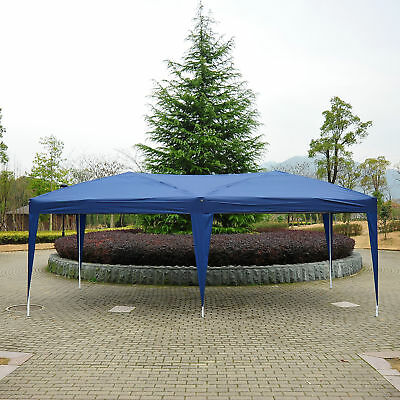 10x20 FT Fodable Tent Outdoor Patio Gazebo Canopy Pop Up Party Wedding Tent Blue
