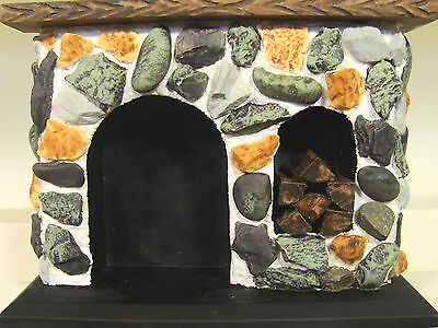 Town Square Dollhouse Miniatures T6893 Walk-In Colonial Stone Fireplace