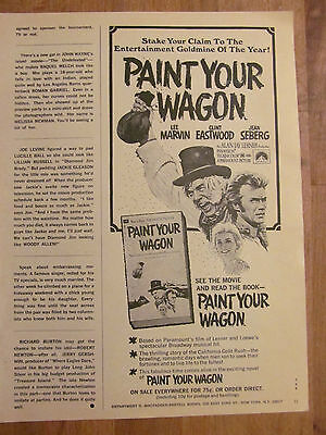 Clint Eastwood, Paint Your Wagon, Book, Great Vintage Ad