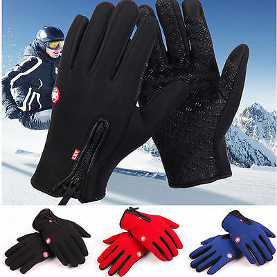 Windproof Waterproof Touch Screen Warm Glove Mittens Fleece Outdoor Cycling Lot