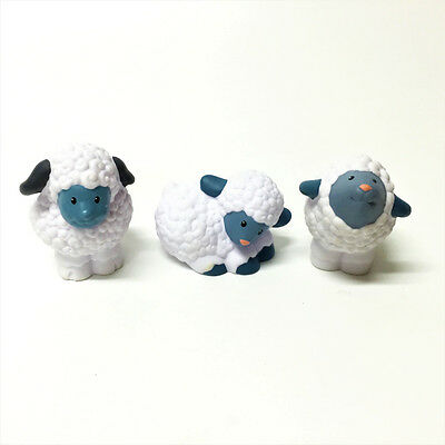 Lot 3pcs  Sheep Family - Fisher-Price Little People Farm Animal figure toy gift