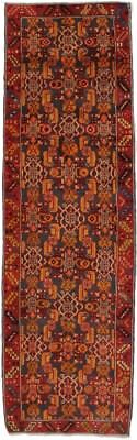 2'8x8'8 Colorful Unusual Design Hamedan Persian Runner Oriental Rug Carpet 3X9