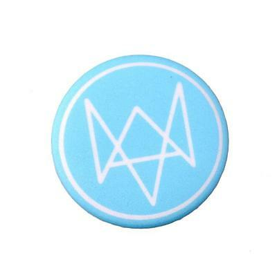 Game Watch Dogs 2 badges logo Cosplay Prop Marcus Brooches Pins Collectibles