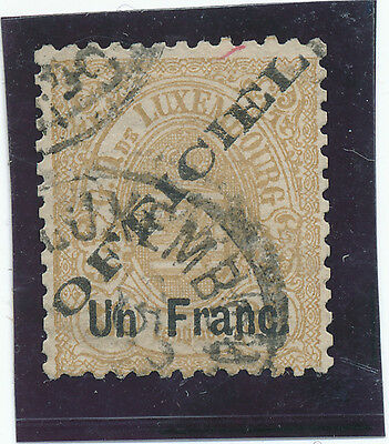 Luxembourg OFFICIAL 1875 Sc# O19 perf 13 - USED - Overprinted - Mi 17 l - VF