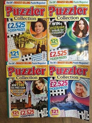 4 X Puzzler Collection Magazines New Unwanted Gift 373, 374, 375 & 376