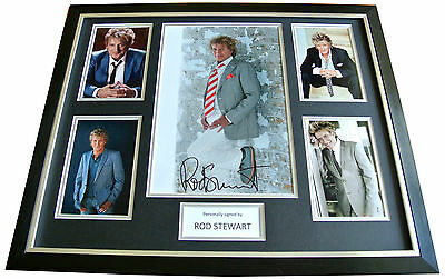 ROD STEWART Signed FRAMED Huge Photo Autograph Display FACES Music Baby Jane COA