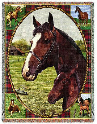 Throw Tapestry Afghan - Thoroughbred 295
