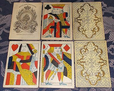 Antique Playing Cards - Full Set  c.1840s  Reynolds & Sons  Standing Courts