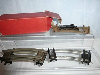 Hornby O Gauge Curved Half Rails & Connecting Plates Boxed A1 1/2