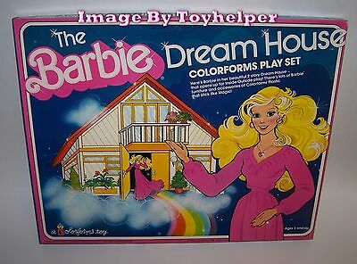 Vintage Barbie 2 Story Dream House Colorforms Play Set Unused in Box