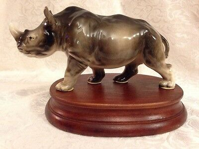 Rhino  Bone China Ceramic Miniature
