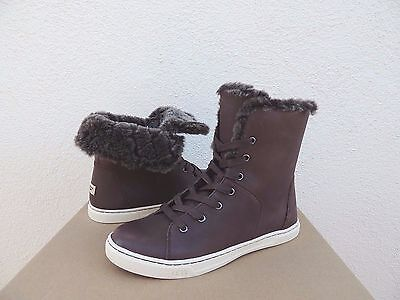 979ea8d4bc9 UGG ESPRESSO CROFT Luxe Quilt Leather Sheepskin Ankle Boots, Us 11/ Eur 42  ~Nib