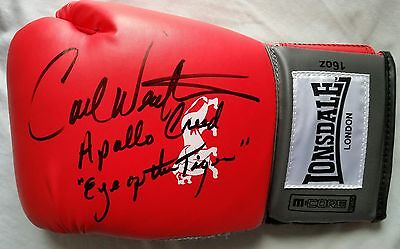 """Carl Weathers Hand Signed Boxing Glove Apollo Creed """"eye Of The Tiger"""" Rocky"""