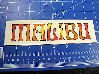 vtg 60's Malibu Surfing waterslide decal sticker