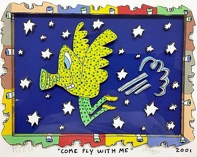 James Rizzi » Come Fly With Me «  Seltenes 3D  aus 2001 (gerahmt)