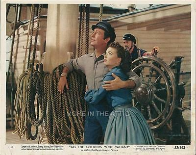 Robert Taylor Ann Blyth All The Brothers Were Valiant Orig Mgm Mini Lobby